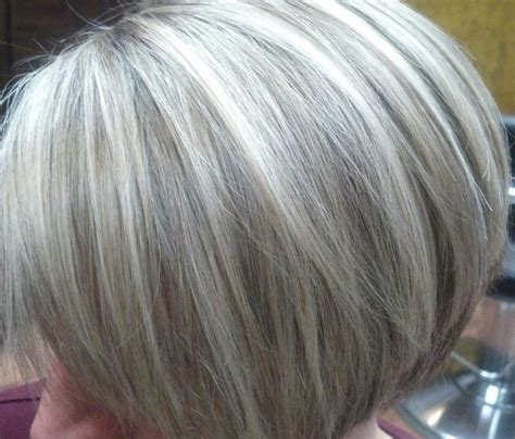 putting lowlights in gray hair doing low lights on gray hair blending gray hair with