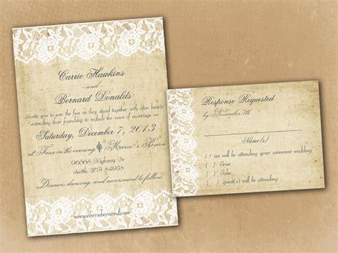 Vintage Wedding Invitation Template Vintage Wedding Template