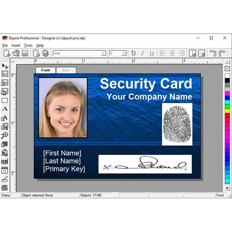 id card software idpack professional 9 id card software prof9 1