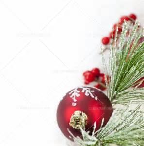 red christmas ornament border