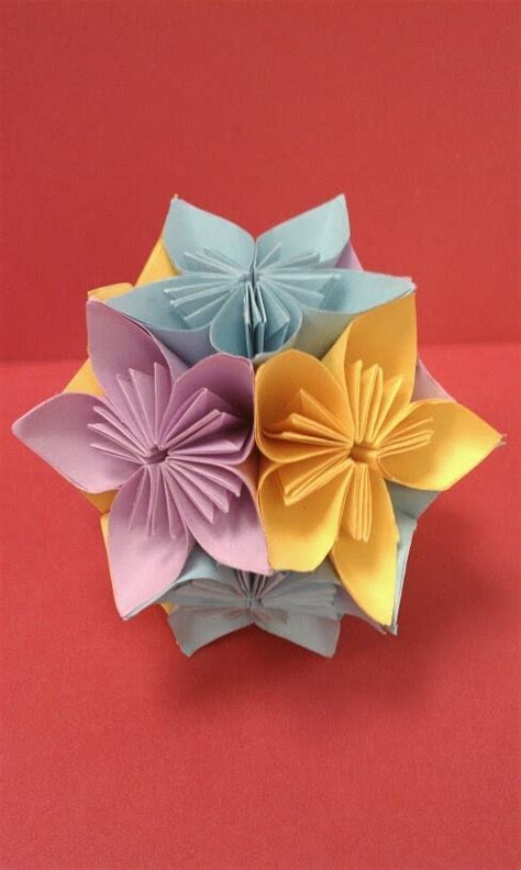 Origami And Craft - diy how to fold an origami kusudama flower paper