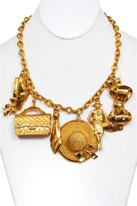 chanel charm necklace at 1stdibs