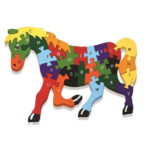 Puzzle Animal alphabet jigsaw wooden animal puzzle in elephant giraffe