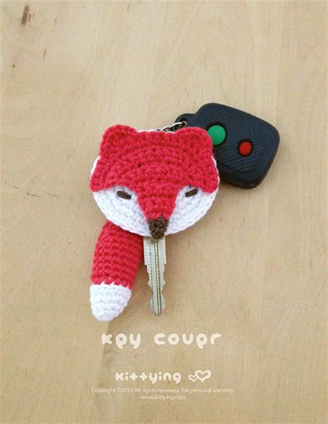 crochet pattern key fox key cover crochet pattern be foxy with fox crochet