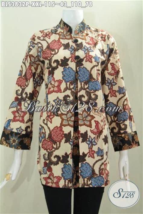 Blus Batik Terbaru Atasan Batik Kator Batik Trendy B2 0916 082 model blus wanita gemuk hairstyle gallery
