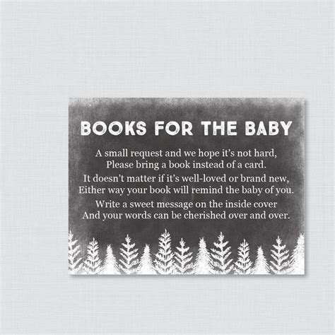 Baby Shower Invitations Books Instead Of Cards by Winter Baby Shower Bring A Book Instead Of A Card