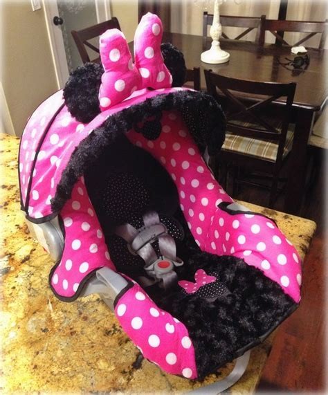 Handmade Baby Car Seat Covers - minnie mouse graco snugride 30 custom carseat cover baby