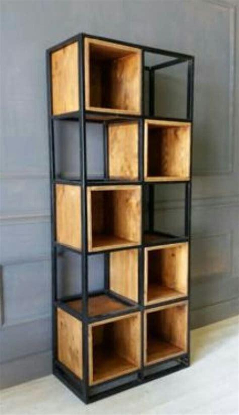 estante ferro e madeira estante m 243 vel industrial de ferro caixas de madeira