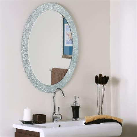 Bathroom Mirrors Oval Decor Ssm5005 4 Molten Oval Bathroom Mirror Atg Stores