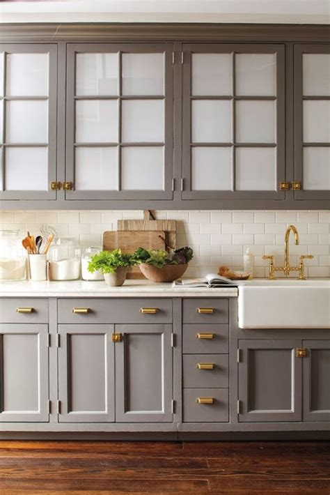 backsplash with grey cabinets favorite gold handles and hinges farmhouse apron sink grey cabinets white tile backsplash