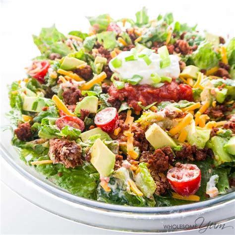 healthy salad recipes easy healthy taco salad recipe with ground beef