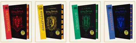 hogwarts house colors there are now harry potter books in hogwarts house colors