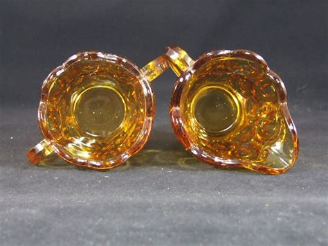 moon and stars l l e smith moon and stars amber sugar and creamer set from