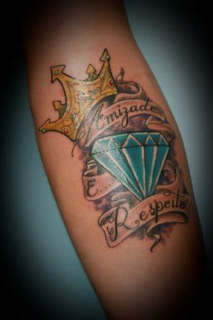 diamond tattoo with crown diamond tattoo images designs