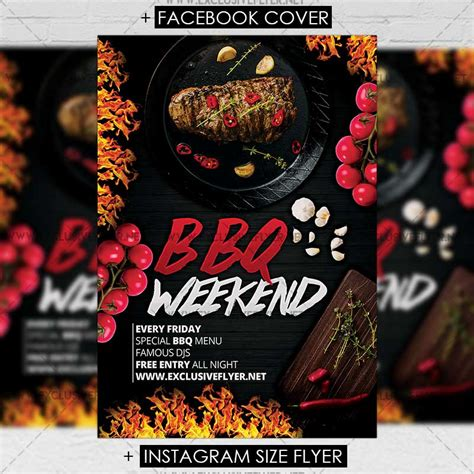 premium flyer templates bbq weekend premium a5 flyer template exclsiveflyer