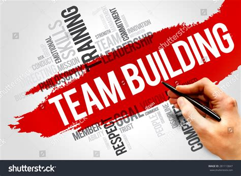 Team Building Mba Books by Team Building Word Cloud Business Concept Stock Photo
