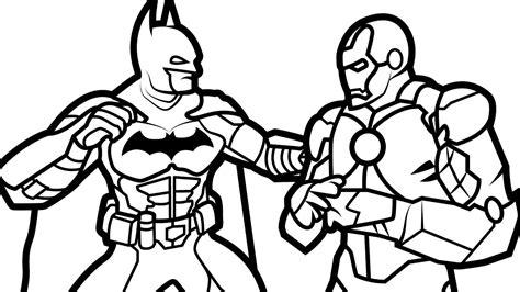 beautiful batman vs iron man coloring book coloring pages