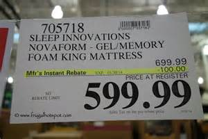 costco mattress sale costco sale novaform 14 quot gel memory foam mattress