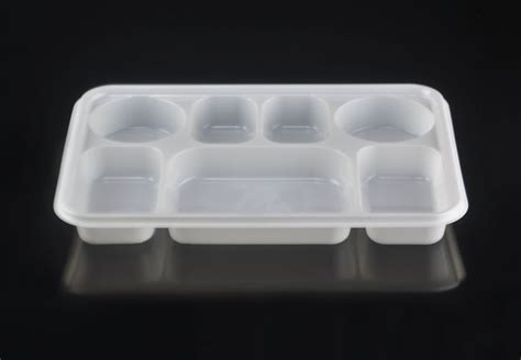 Disposable Plates With Sections by Large 7 Compartment Rectangular Disposable Plastic Plate