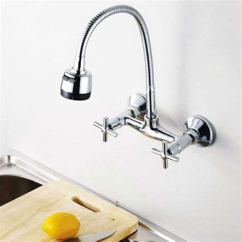 wall kitchen faucets picking nice wall mount kitchen faucet ellecrafts