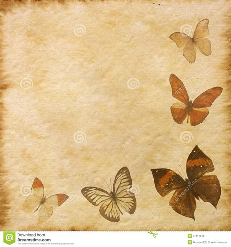 butterfly old vintage free ppt backgrounds for your old grunge butterfly paper texture stock illustration