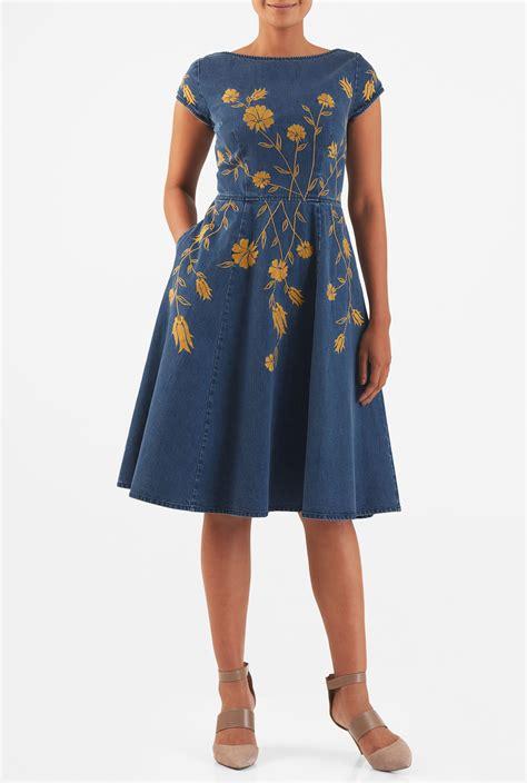 Cotton Denim Dress s fashion clothing 0 36w and custom