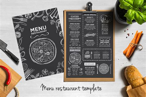 design menu in photoshop 25 high quality restaurant menu design templates web