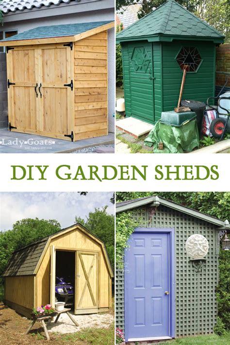 easy diy garden sheds   build  homebeauty
