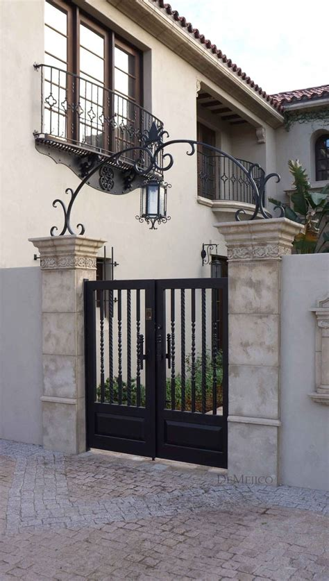 wrought iron accent l a classic and custom wrought iron entry gate complimented