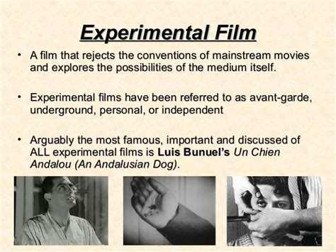 themes in experimental film experimental film