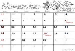 November 2018 Calendar With Holidays November 2017 Calendar With Holidays 2018 Calendar Printable