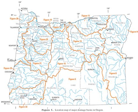map of oregon dams list of rivers of oregon