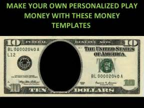 paper money template free play money personalized templates