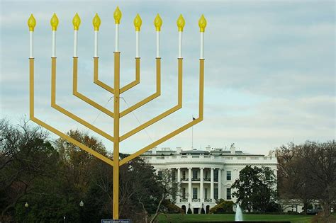 menorah house white house marks first night of hanukkah with lighting of national menorah