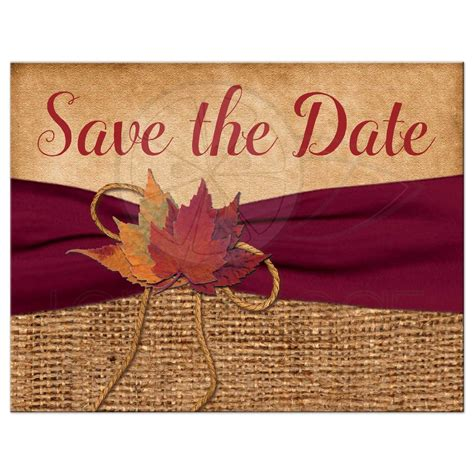fall wedding invitations and save the dates rustic wedding save the date postcard printed wine