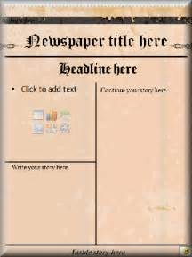 Drive Newspaper Template by Literacy