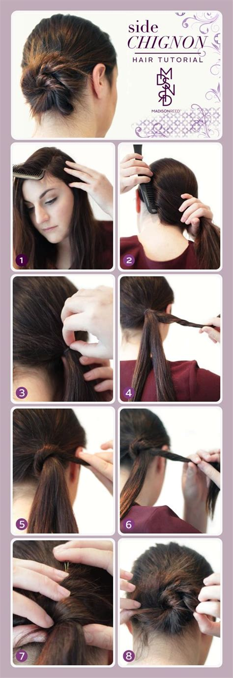 how to cut off a bun steps with images side chignon the french bun hair tutorial madison reed