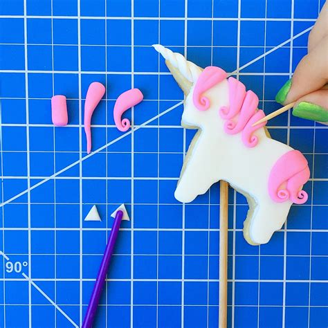 unicorn tutorial unicorn cookie cake toppers brownie mischief
