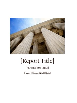 student report cover template bold report office templates