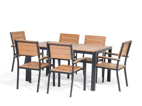 Patio Set 6 Chairs Patio Furniture Set Garden Table And Chairs Polywood 6