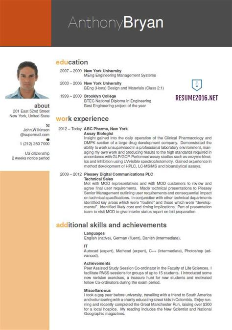 best cv template best resume format 2016 which one to choose in 2016