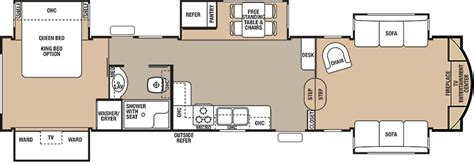 cedar creek rv floor plans cedar creek fifth wheels for sale