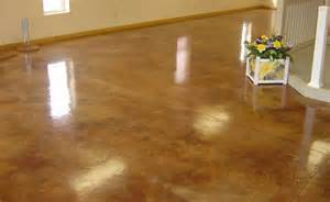 stained concrete floors cost after sted concrete color