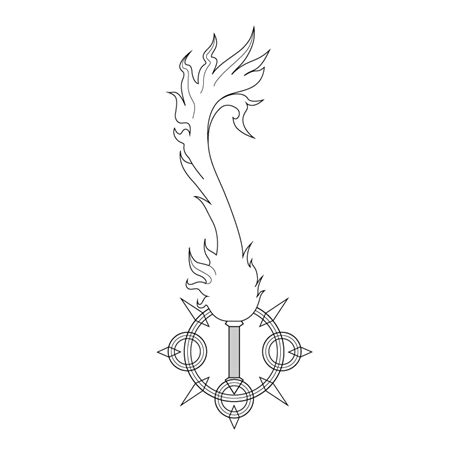 keyblade coloring pages axel lea keyblade kh 3d vector by m hydra on deviantart
