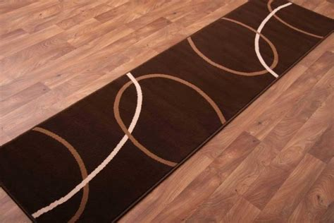 Modern Runner Rugs Chocolate Brown Runner Rugs Modern Plain Swirl Carpet Mats 8 Sizes Ebay