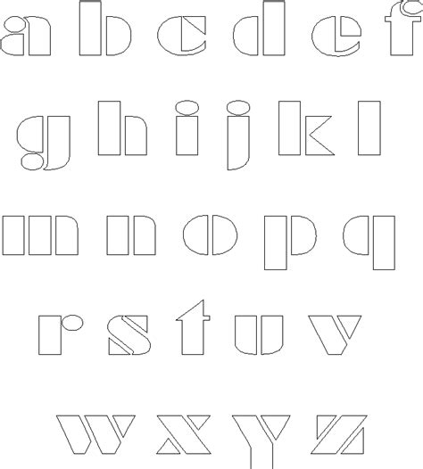 Block Lettering Template Frugal Scrapbooker Alphabet Templates