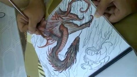 a of thrones coloring book finished my coloring drogon of thrones coloring book