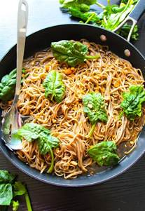 20 minute sticky basil thai noodles layers of happiness