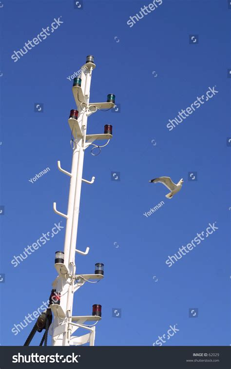 boat mast lights boat mast showing navigation lights with seagull stock