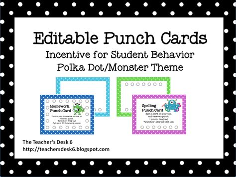 free printable behavior punch card template 9 best images of printable punch cards free printable